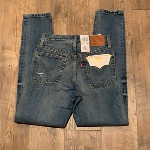 Levi's skinny 501's distressed 24 x 30 button fly